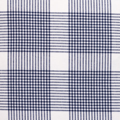 Petite Plaid Fabric in Navy