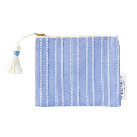 Provence Stripe Pouch with Tassel