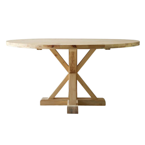 Raw Pedestal Table