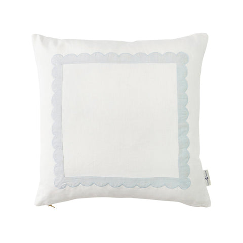 Scallop Trim Pillow in Mist