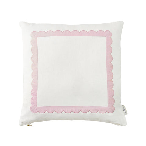 Scallop Trim Pillow in Thistle