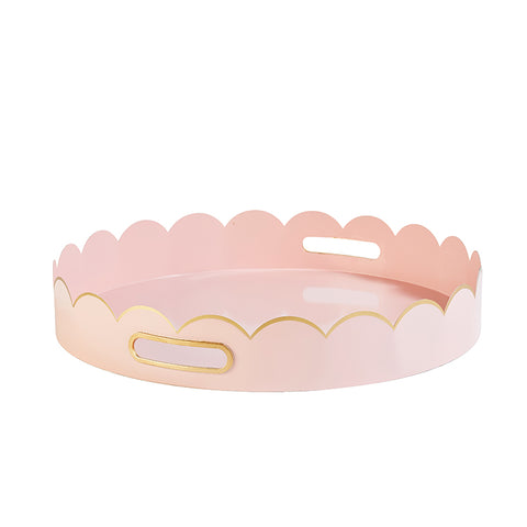 Cece Scalloped Tray in Blush