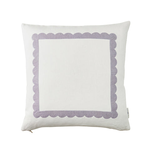 Scallop Trim Pillow in Lilac