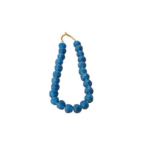 Sea Glass Beads in Navy