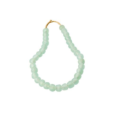 Large Sea Glass Beads in Celadon