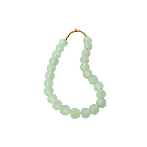 Small Sea Glass Beads in Celadon