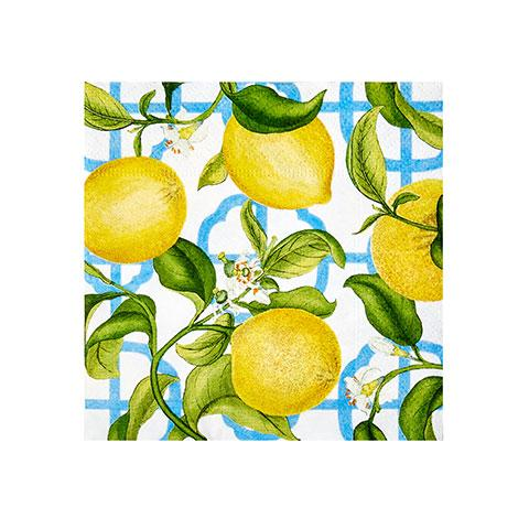 Lemon Bliss Paper Cocktail Napkins