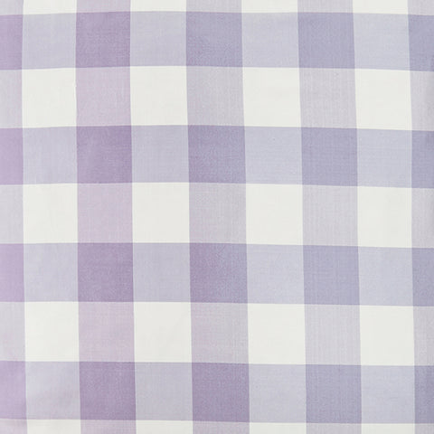 Silk Check in Lilac Fabric