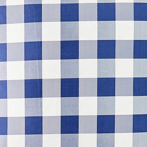 Silk Check in Royal Fabric