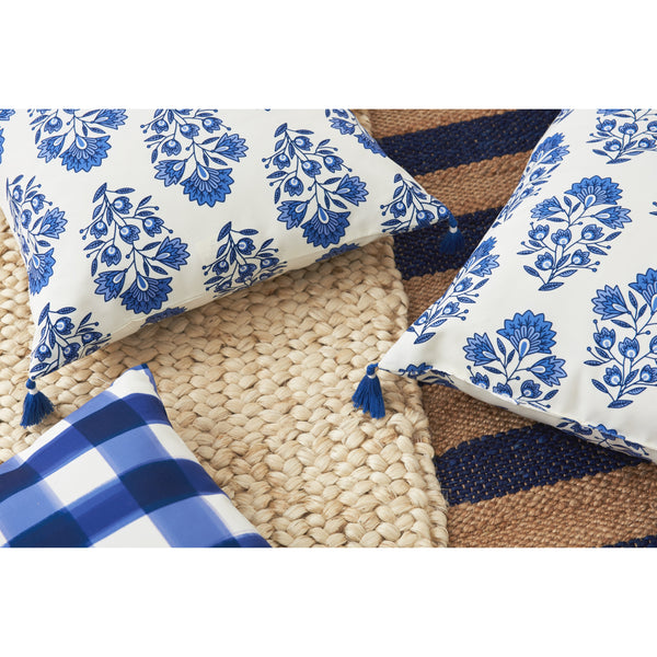 santorini block print pillow indoor/outdoor