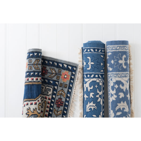 outdoor emma rug in french blue