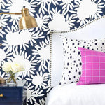 Silhouette in Navy Wallpaper