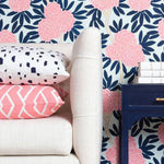 Navy Fleur Chinoise Wallpaper