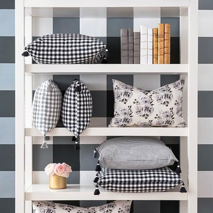 Black Gingham Pillow Caitlin Wilson