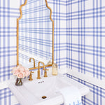 Grande Plaid Wallpaper In Eventide