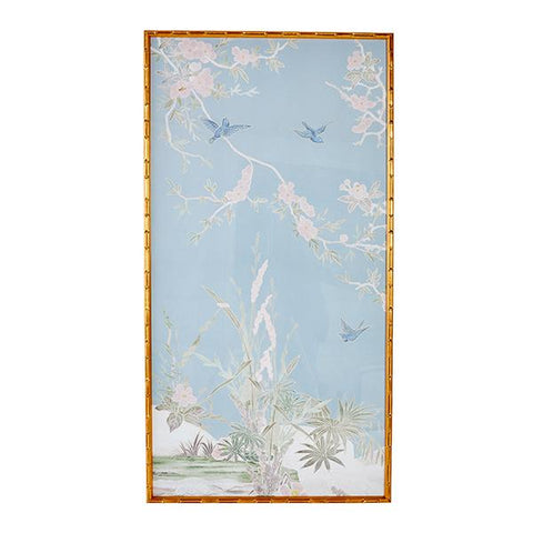 New! Botanical Breeze Chinoiserie Panel