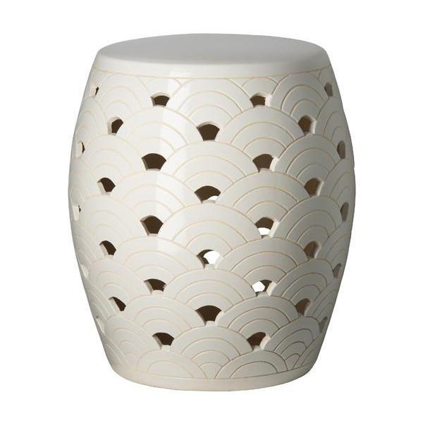 waves ceramic stool