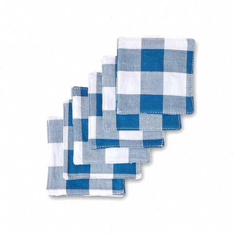 Cotton Gingham Coaster Set
