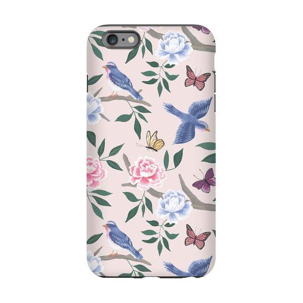 blush chinoiserie phone cover