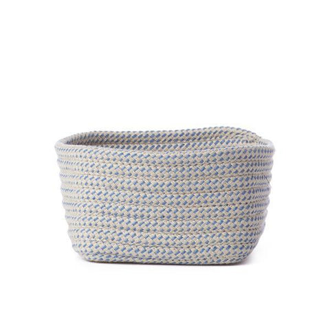 Grey and Blue Small Braided Basket
