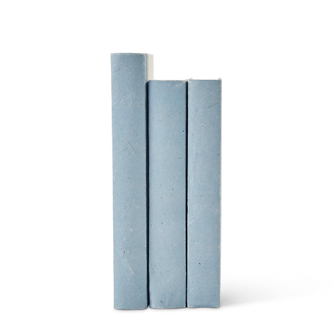 Soft Blue Parchment Decorative Books