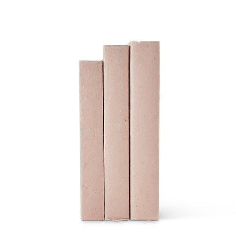 Soft Blush Parchment Decorative Books