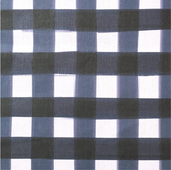 petite navy buffalo check fabric