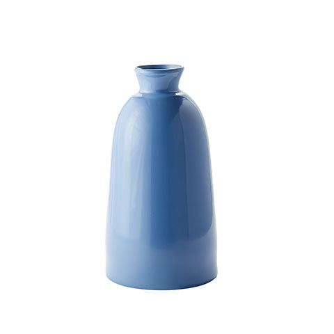 Tall French Blue Artisan Vase
