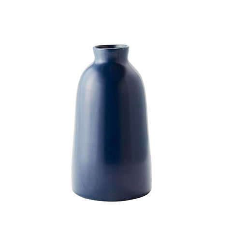 Tall Navy Artisan Vase