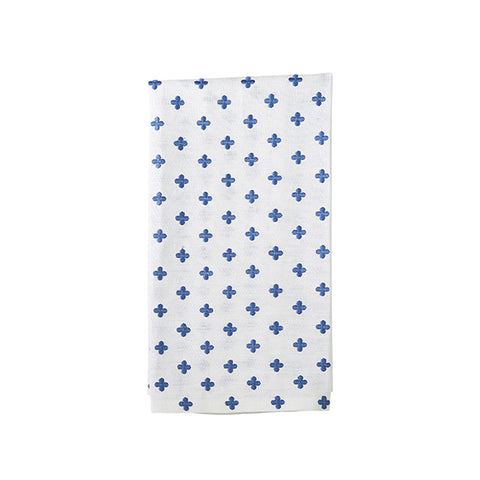 French Blue Embroidery Tea Towel
