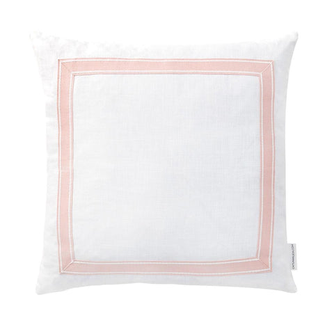 Blush Ribbon Trim Pillow