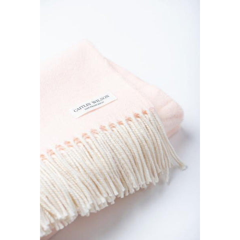 Herringbone Throw in Pink Salt
