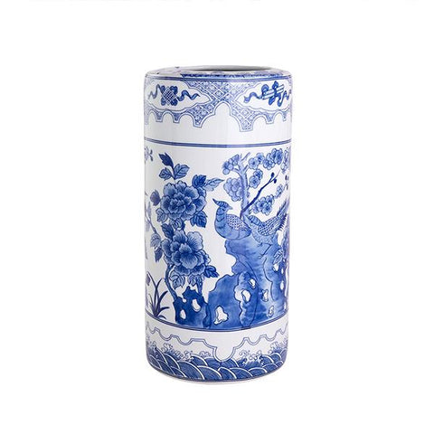 Blue & White Umbrella Stand