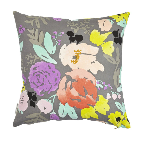 bridge city blooms pillow on grey