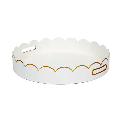 Cece Scalloped Tray in White