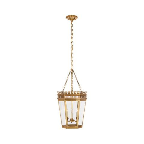 Warwick Medium Lantern in Antique Burnished Brass