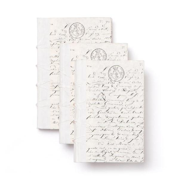 White Parchment Decorative Books