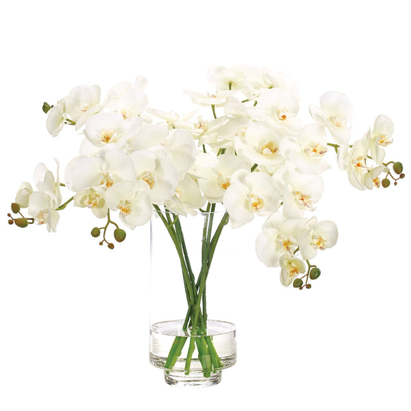 Faux White Orchids