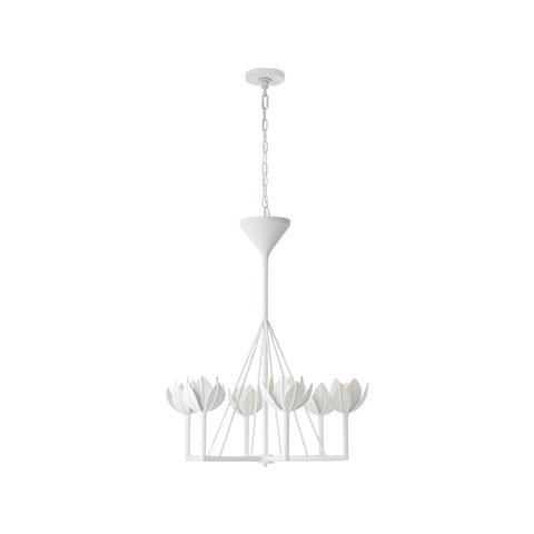 Alberto Small Single Tier Chandelier in White