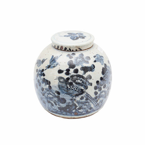 Birds & Brushstrokes Lidded Jar