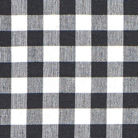 Black Gingham Fabric