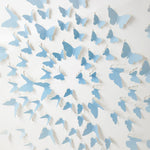 Blue Square Ombre Butterflies