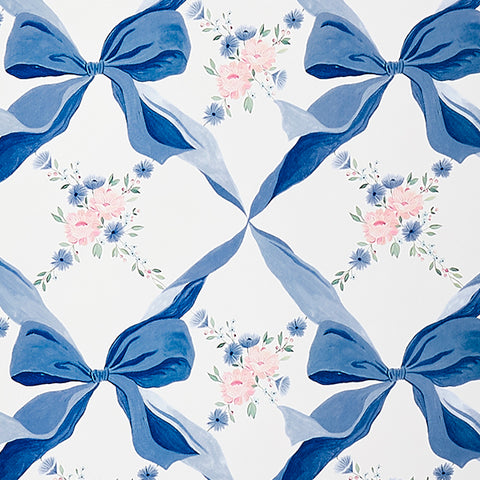CAIT KIDS: Bows & Blossoms Wallpaper Swatch