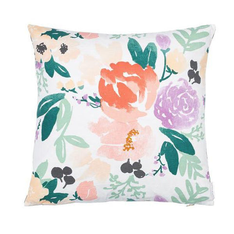 Bridge City Blooms Pillow on White