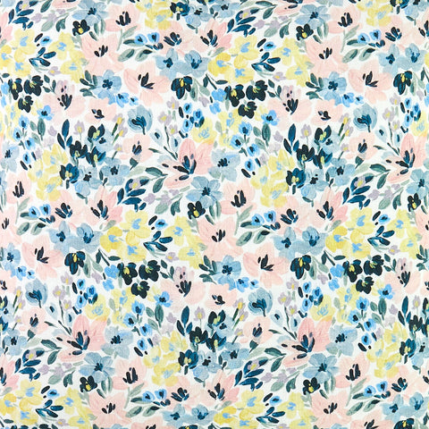 Brushstroke Floral Fabric