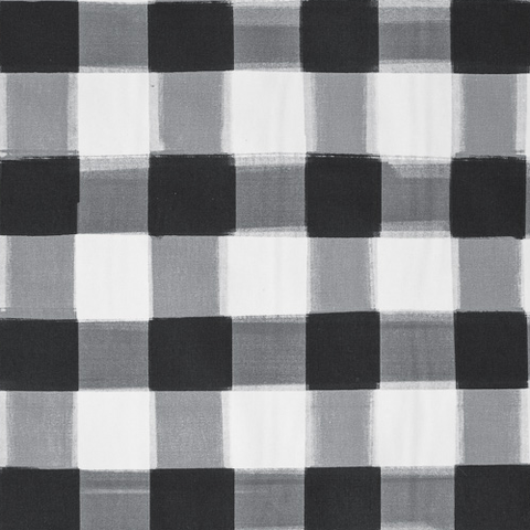 Black Burnside Buffalo Check Fabric Caitlin Wilson