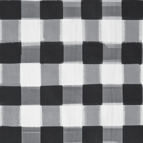 Black Burnside Buffalo Check Fabric