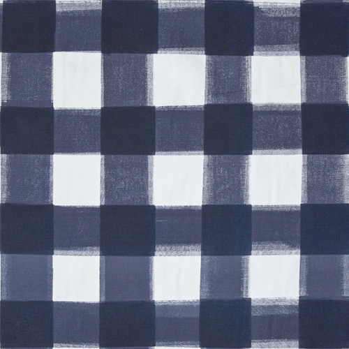 navy burnside buffalo check fabric