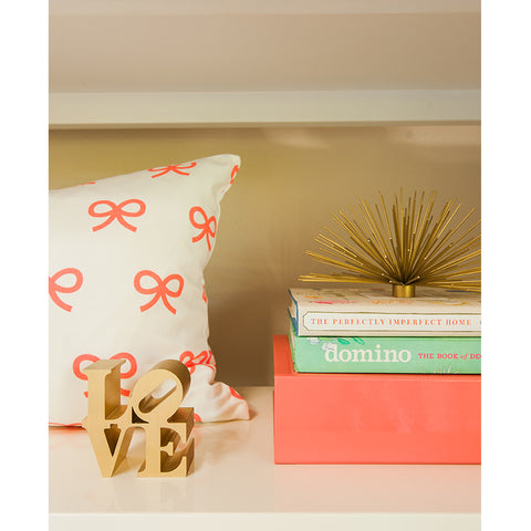 Coral Bows Pillow