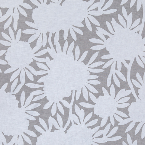 Grey Silhouette Fabric